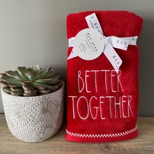 NWT Rae Dunn Better Together Hand Towels Set of 2